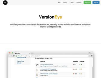 versioneye.com screenshot