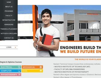 neotech.ac.in screenshot