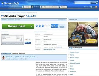 x2-media-player.findmysoft.com screenshot