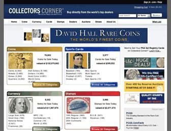 collectorscorner.com screenshot