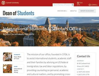Main page screenshot of isso.cornell.edu