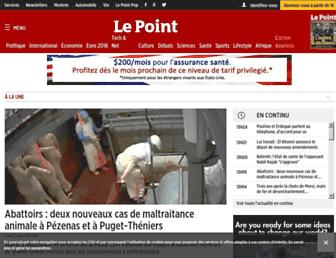 Main page screenshot of lepoint.fr
