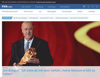 de.fifa.com screenshot
