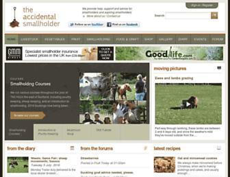 accidentalsmallholder.net screenshot