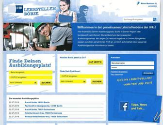 ihk-lehrstellenboerse.de screenshot
