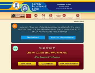rrbchennai.gov.in screenshot