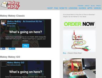 makeymakey.com screenshot