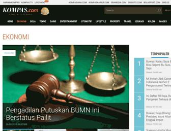 ekonomi.kompas.com screenshot