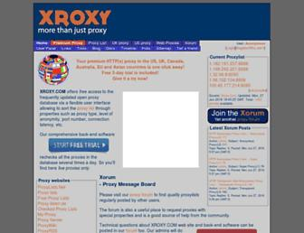 xroxy.com screenshot