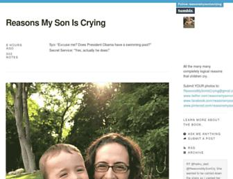 Thumbshot of Reasonsmysoniscrying.com