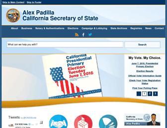 sos.ca.gov screenshot