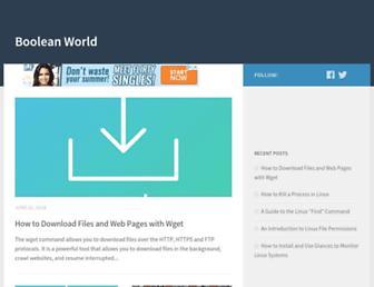 booleanworld.com screenshot