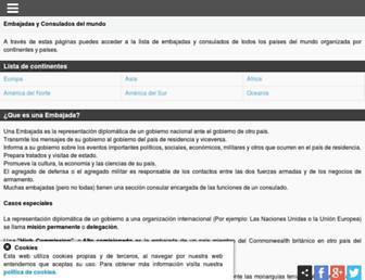 Thumbshot of Embajada-consulado.com