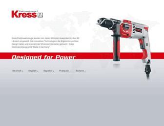 Thumbshot of Kress-elektrik.com