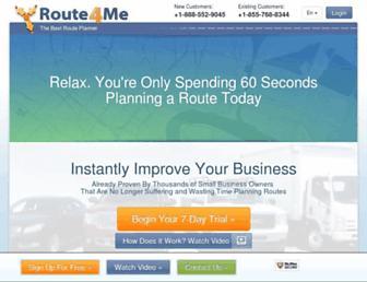 route4me.com screenshot