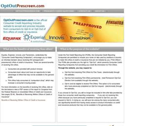 Thumbshot of Optoutprescreen.com