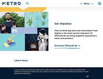 metroag.de screenshot