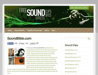 Thumbshot of Soundbible.com