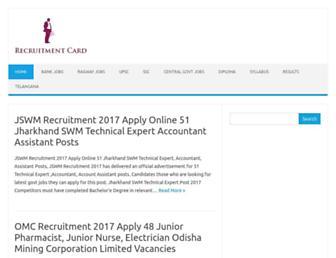 recruitmentcard.com screenshot