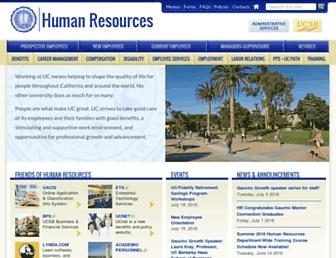 Main page screenshot of hr.ucsb.edu