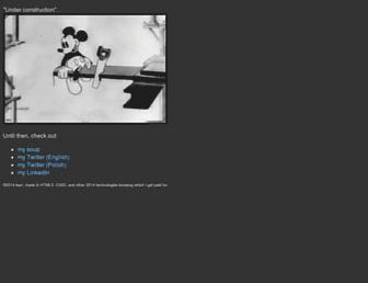 Main page screenshot of ikari.pl