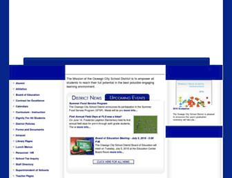 Main page screenshot of oswego.org