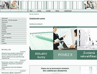 Main page screenshot of bfz.cz