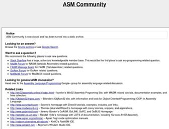 asmcommunity.net screenshot