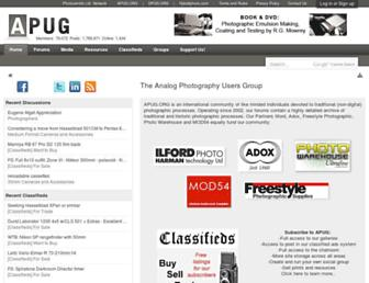 Main page screenshot of apug.org
