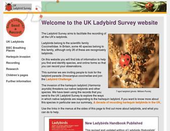 Main page screenshot of ladybird-survey.org