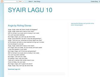 syairlagu10.blogspot.com screenshot