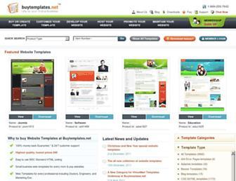 Main page screenshot of buytemplates.net