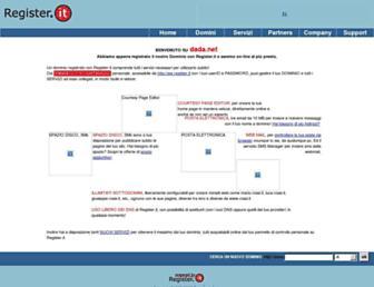 Main page screenshot of dada.net