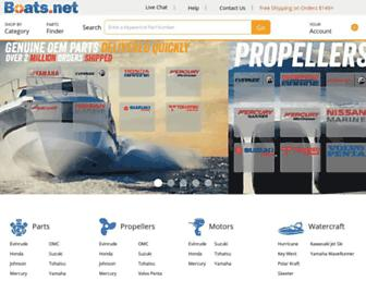 Main page screenshot of boats.net