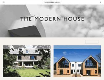 Main page screenshot of themodernhouse.net