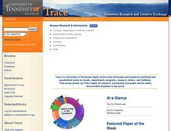 trace.tennessee.edu screenshot