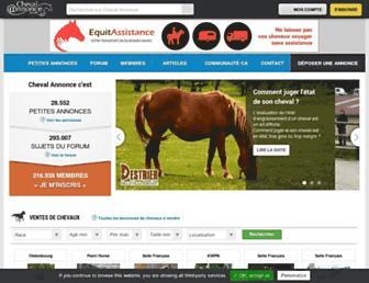 chevalannonce.com screenshot