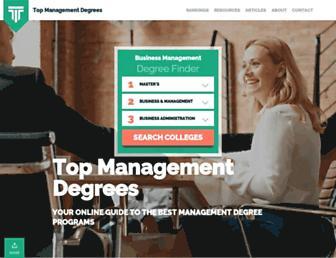 topmanagementdegrees.com screenshot
