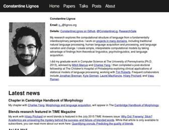 Thumbshot of Lignos.org