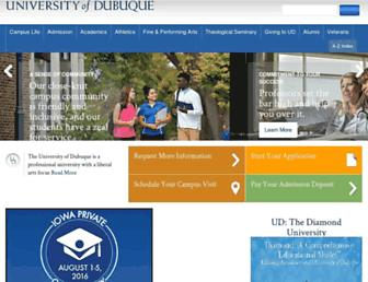 dbq.edu screenshot