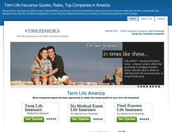 termlifeamerica.com screenshot