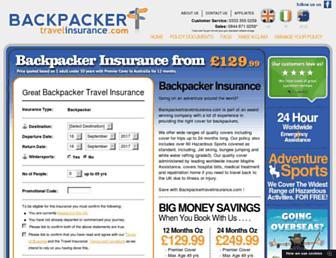 backpackertravelinsurance.com screenshot