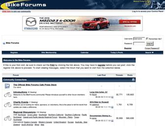 Main page screenshot of bikeforums.net