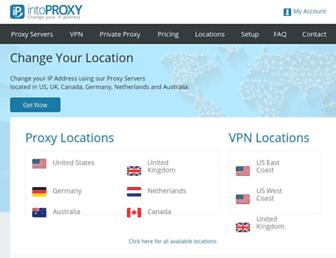 intoproxy.com screenshot