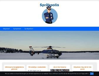 Main page screenshot of sprakpolis.se