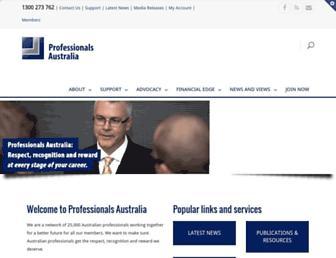professionalsaustralia.org.au screenshot