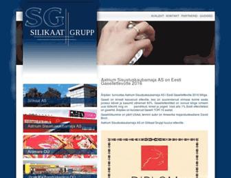 Main page screenshot of silikaatgrupp.ee