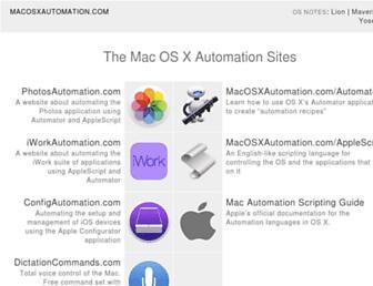 macosxautomation.com screenshot