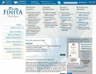 Main page screenshot of finita.lt