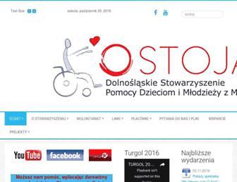 Main page screenshot of ostoja.org.pl